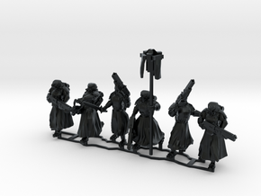 Assault Troops, 28-32mm scale in Black Hi-Def Acrylate