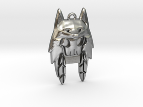 Wolf Hoodie in Natural Silver