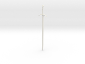 1/6 Game of Thrones sword Longclaw in White Natural Versatile Plastic