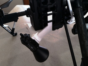 Inspire 1 Dual Searchlight mount - GoPro mount sys in Black Strong & Flexible