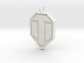 World of tanks pendant in White Natural Versatile Plastic