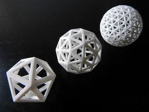 Geodesic spheres in White Strong & Flexible