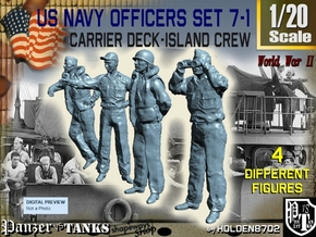 1-20 USN Officers Carrier Island Set7-1 in White Strong & Flexible