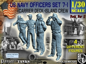 1-30 USN Officers Carrier Island Set7-1 in White Natural Versatile Plastic
