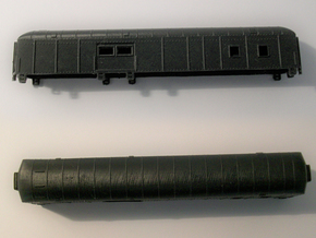 D&RGW RPO Baggage Car NScale in Black PA12