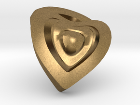Heart- charm in Natural Bronze