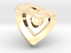 Heart- charm in 14K Yellow Gold