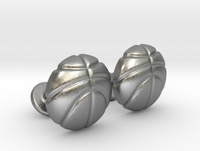 Basketball CuffLinks in Natural Silver