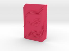 2-way SLI bridge cover (7cm) - ROG in Pink Processed Versatile Plastic