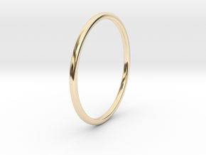 Simple band - size 9 US/ 189 mm EU - 1.2 mm thick  in 14K Yellow Gold