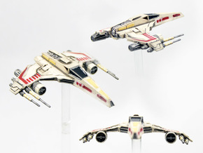 E-wing Variant - Quad Cannon 3pack  NXU 1/270 in Frosted Extreme Detail