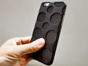 iPhone 6 plus / 6S plus Case_Dots in Black Strong & Flexible