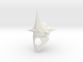 Witchking of Angmar Helmet  in White Natural Versatile Plastic