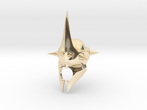 Witchking of Angmar Helmet (LEGO compatible) in 14k Gold Plated Brass