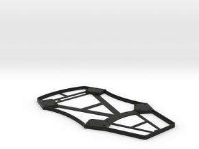 Iris+ 5mm Battery bay spacer in Black Natural Versatile Plastic