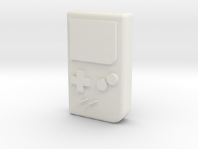 "1/10 SCALE ""GAME BOY""  in White Natural Versatile Plastic: 1:10"