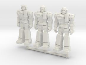 Diaclone Pilot Squad, at attention 35mm Mini in White Natural Versatile Plastic