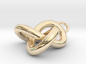 Trefoil Knot Pedant in 14k Gold Plated Brass
