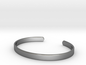Cuff Bracelet in Polished Silver