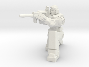 Diaclone Sharpshooter, 5mm Mini in White Strong & Flexible