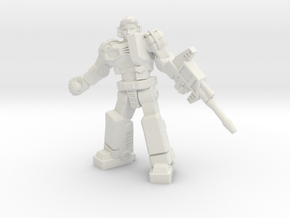 Diaclone Grenadier, 35mm Mini in White Natural Versatile Plastic