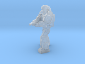 Diaclone Special Weapons Trooper, 35mm mini in Smooth Fine Detail Plastic