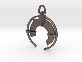 [Dishonored] Bone Charm Pendant in Polished Bronzed Silver Steel