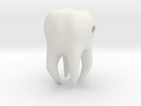 Wisdom Tooth charm/pendant in White Natural Versatile Plastic