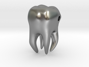Wisdom Tooth charm/pendant in Natural Silver