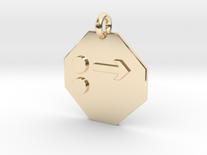 Pendant Newton's First Law in 14k Gold Plated Brass