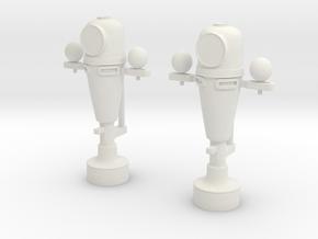 1/32 USN Binnacle Set in White Natural Versatile Plastic