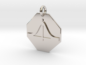 Pendant Schrödinger Equation in Rhodium Plated Brass