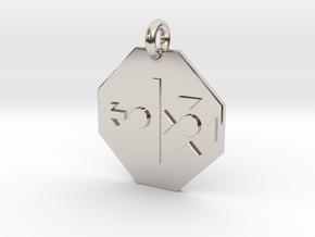 Pendant Heisenberg Uncertainty Principle in Rhodium Plated Brass