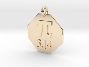 Pendant Pi in 14k Gold Plated Brass