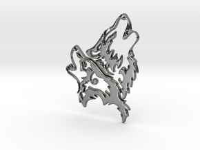Wolfskopf / Wolfhead in Polished Silver