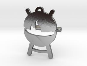 BABBQ Cufflink v2 in Polished Silver