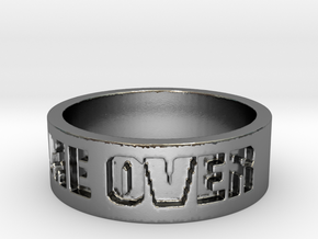 Game Over Ring in Polished Silver: 9 / 59
