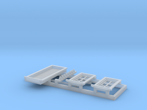 HO NSWR 'Cheap' Platform Signal Box Detail Parts in Smooth Fine Detail Plastic