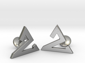 Delta One Cufflinks in Natural Silver