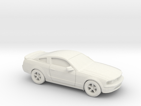 1/87 2007 Ford Mustang Stock Version in White Natural Versatile Plastic
