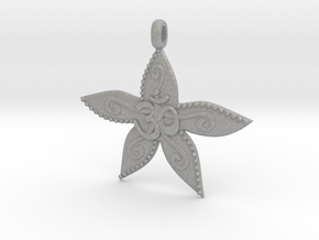Starfish OM GOA Symbol Jewelry Necklace in Aluminum