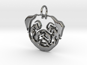 Mops Head 2 in Polished Silver