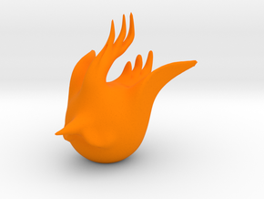 2017 Rooster in Orange Processed Versatile Plastic