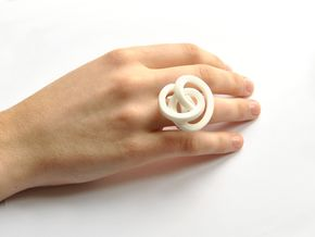 Ring Love is in the AIR (L) (from $26) in White Strong & Flexible Polished: 7 / 54