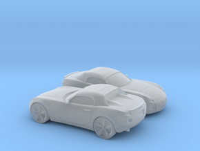 1/200 2X 2005-09 Pontiac Solstice Roadster in Smooth Fine Detail Plastic
