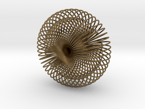 Double Wire Torus 75cm in Natural Bronze