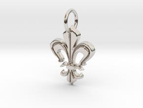 """Heraldic """"Lilie 2"""" in Platinum"""