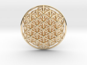 3d Flower Of Life in 14K Yellow Gold
