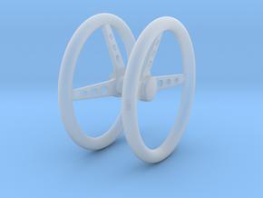 Steering Wheel V3 Pair 1/25 in Smooth Fine Detail Plastic