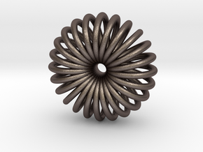 Torus Pendant necklage in Polished Bronzed Silver Steel